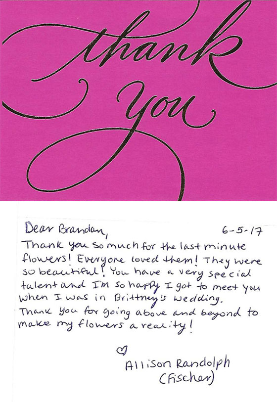 client thank you card